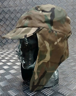 Genuine British UK army ear flaps cap MTP camouflage military hat multicam NEW