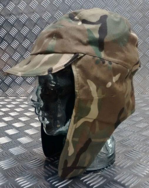 Genuine British Army MVP Goretex MTP Multi Camo Dog/Trapper Hat w Ear Flaps NEW