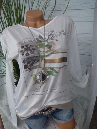 504 Heine B.C Blusa shirt mis NUOVO 34-46 2 in 1 ottica