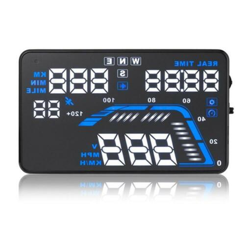 Useful Q7 Car HUD Head Up Display GPS Speedometers Projector Speeding Warning