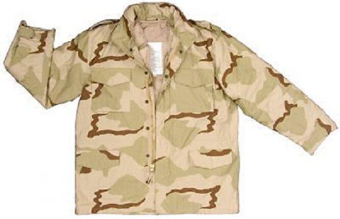 Us Army m65 DCU Desert Combat Uniform chaqueta Parka campo chaqueta ls large Short