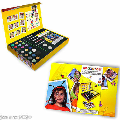 Snazaroo Large Facepainting Face Paints Painting Party Kit Complete Gift Set