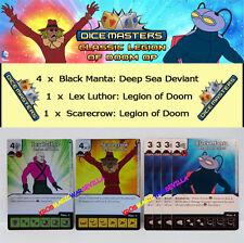 DC DICE MASTERS CLASSIC LEGION OF DOOM OP - Lex Luthor, Scarecrow, 4 Black Manta