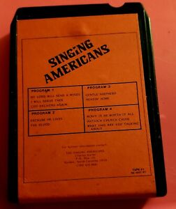 Vintage-8-Track-Tape-Singing-Americans-Self-Titled-Untested-No-Case-HTF