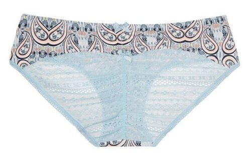 Victoria Secret Lace Ruched Back Hiphugger Panty Peach Melba Paisley L Old Style