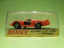 DINKY TOYS 210 ALFA ROMEO 33 TIPO LE-MANS 1:43 - RARE SELTEN -  VERY GOOD IN BOX