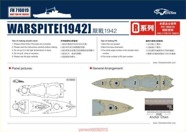 Flyhawk FH780010 1//700 HMS Warspite 1942 for Trumpeter