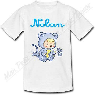 T-shirt Enfant Tigre Horoscope Chinois avec Prénom Personnalisé
