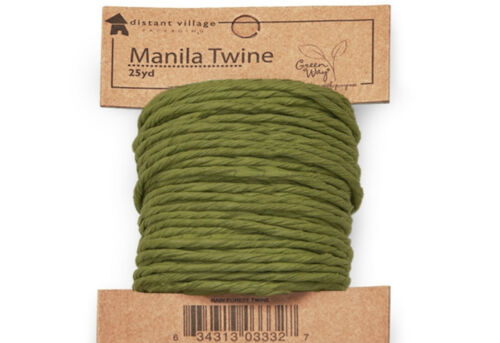 Hemp Twine Ribbon Rain Forest Green Christmas Holiday Crafts Gifts 25 yards NEW