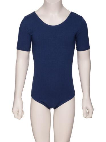 All Colours Girls RAD Cotton Short Sleeved Ballet Dance Leotard KDC037 By Katz