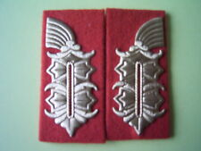 1 Paar Kragenspiegel Dienstuniform Rechteck General NVA Staatssicherheit MfS