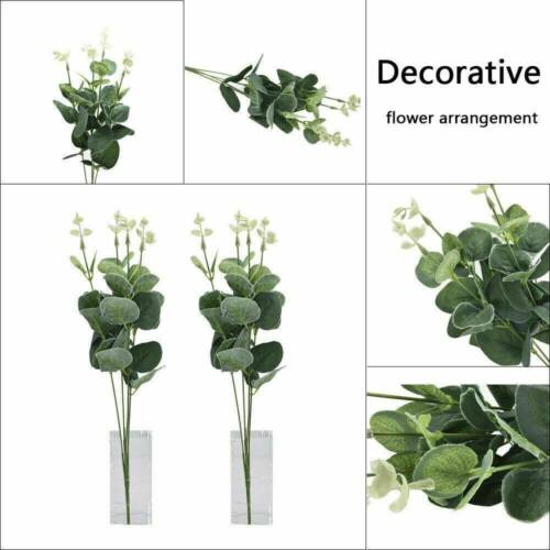 Green Plant Eucalyptus Simulation Artificial Fake Leaf Silk Flowers Home Decor