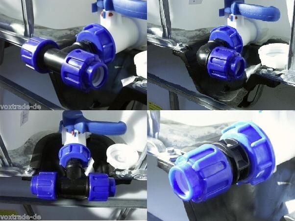 t-piece angle pipe connector adaptor for IBC rain water tank HIGH - QUALITY *B