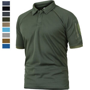 Tactical-Mens-Casual-Short-Sleeve-Polo-Shirt-Outdoor-Golf-Sport-Army-Hiking-Tops