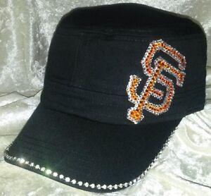 SF Giants Womens Ultra Bling Cadet Rhinestone MLB Baseball Cap Hat ... 55be62f4c3ed