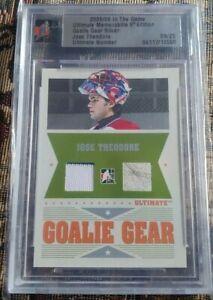 2005-06-ITG-Ultimate-Memorabilia-Goalie-Gear-Jersey-amp-Glove-Jose-Theodore-08-25
