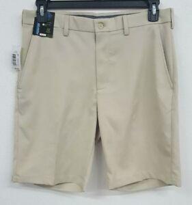 Roundtree-amp-Yorke-Performance-LT-Khaki-Flat-Men-039-s-Shorts-NWT-40-Choose-Size