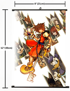2031 Japanese Anime Kingdom Hearts Home Decor Poster Wall Scroll A