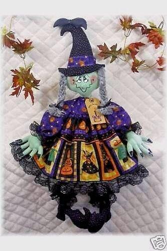 """~Primitive Raggedy Ann 29/"""" Halloween Witch /""""BATTILDA/"""" PATTERN #126~"""
