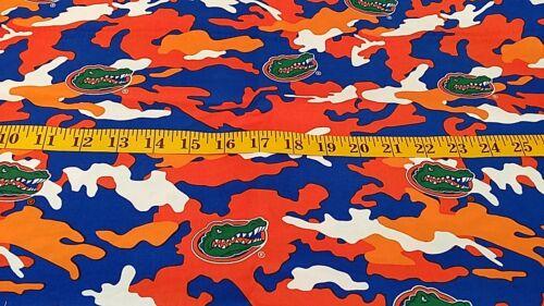 100/% algodón-Azul Naranja y Blanco diseño de la Universidad de Florida-FQ para patio Nuevo