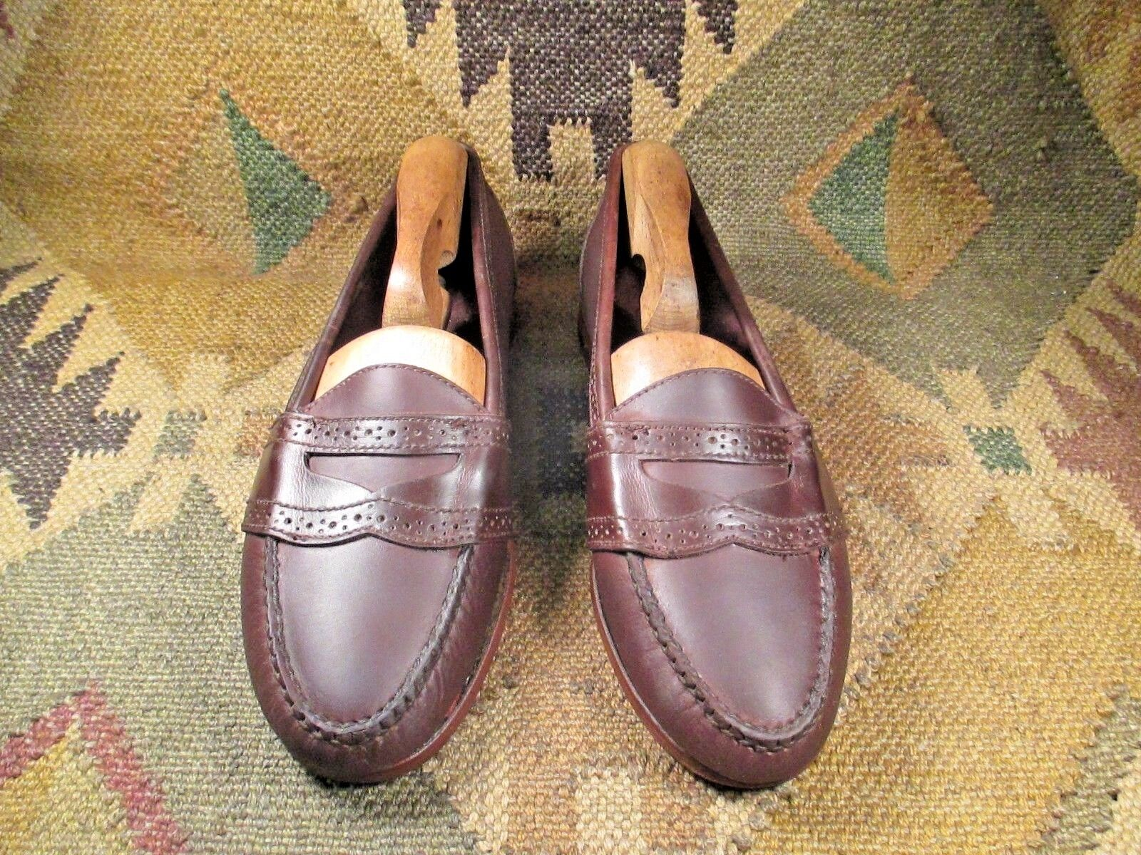 Vintage COLE HAAN marrone leather Penny Loafers  Taglia 7.5 M Made in USA