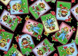 MARY-ENGELBREIT-FABRIC-MARY-039-S-FAIRIES-FAIRY-QUILTING-TREASURES-COTTON-YARDAGE