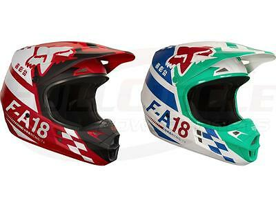 Fox Racing 2018 V1 Sayak Helmets Motocross Off-Road MX//ATV//MTBike Adult Sizes