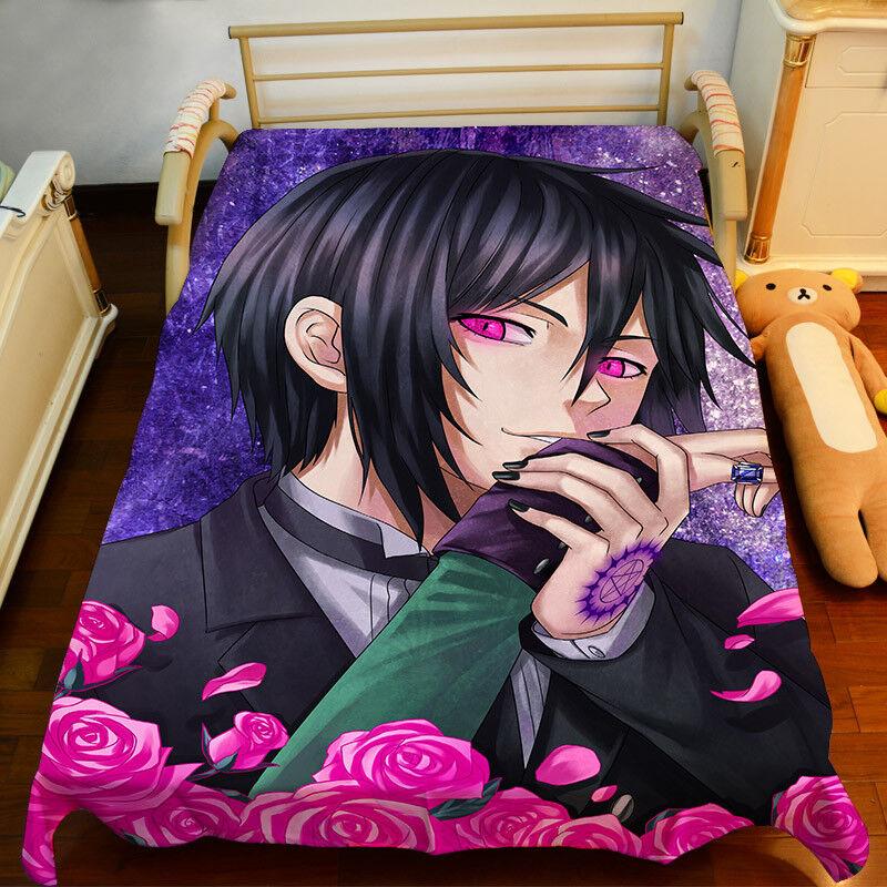 NEW Sebastian Kuroshitsuji Sheet Bedspread Bed Cover Coverlet Quilt Cover Anime