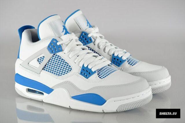 buy popular 7b6bc b6b7f Nike Air Jordan 4 IV Retro Military Blue Mens 308497-105 Basketball Shoes  Sz 13