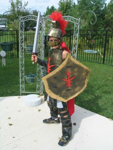 Custom Gladiator Costume - Shield - Helmet - Cape