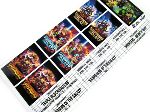 Guardians of the Galaxy Infinity Wars STICKERS for LEGO 10232 cinema 10184