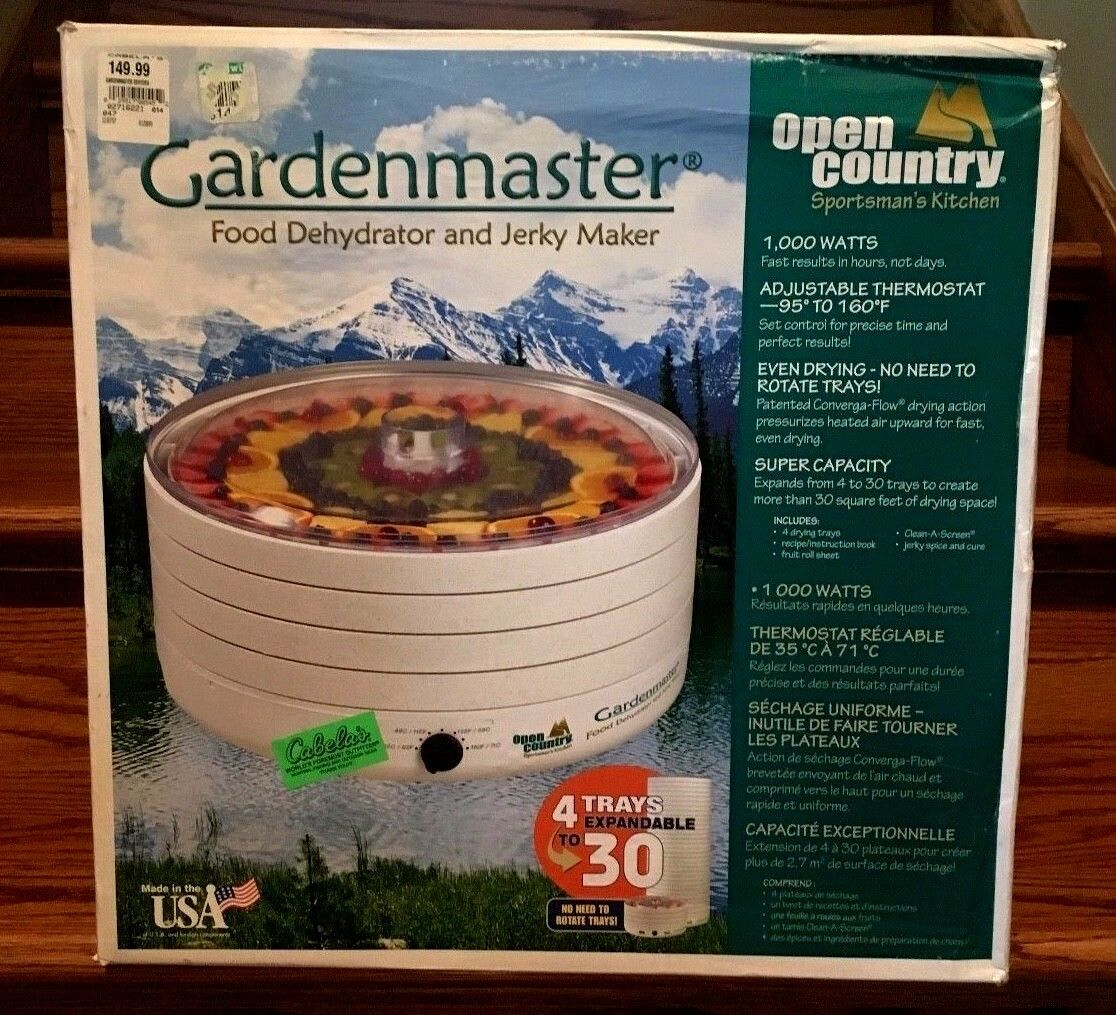 CABELA'S GARDENMASTER déshydrateur & séché Maker OPEN COUNTRY SPORTMAN'S KITCHEN