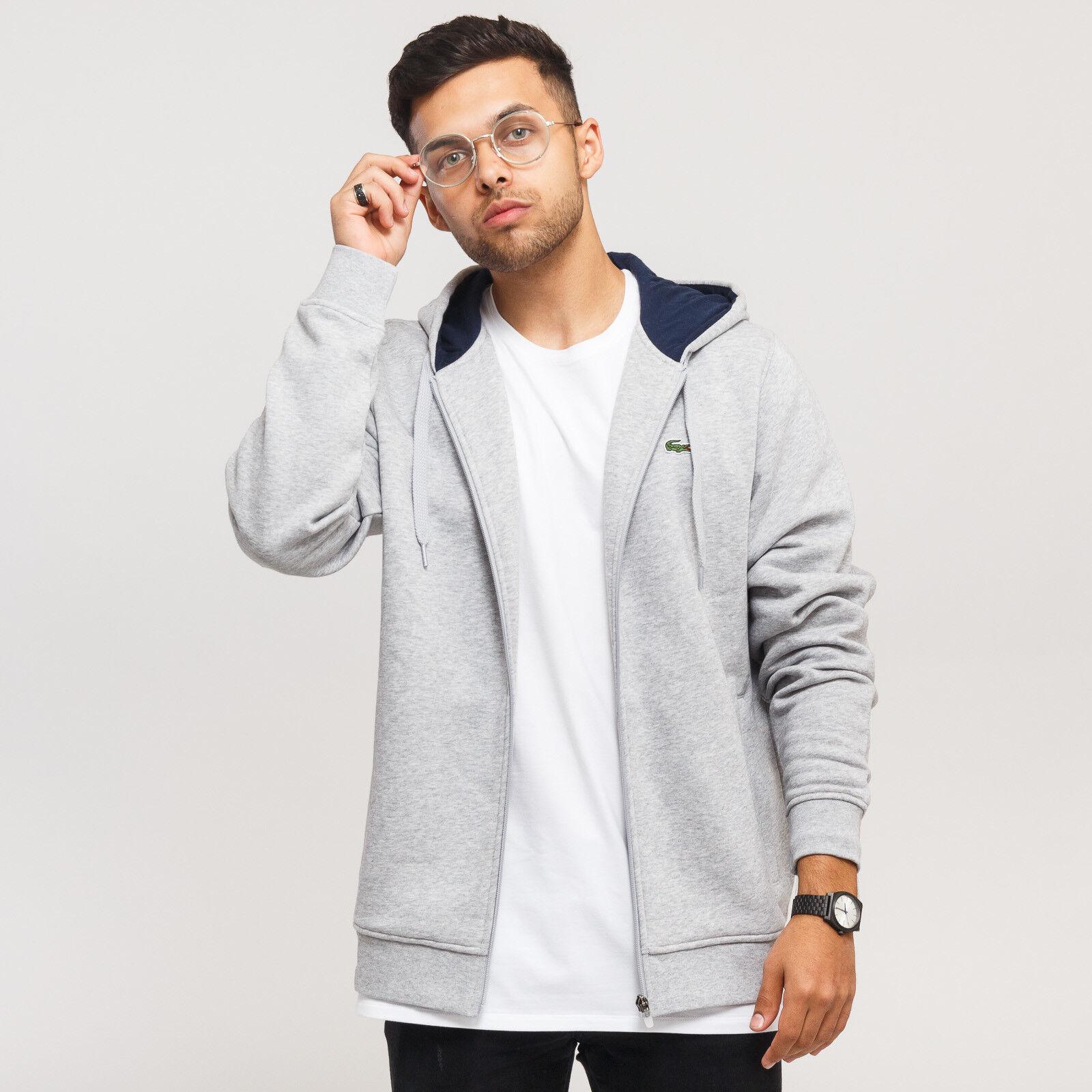 LACOSTE Sweatshirt & Hoodie grau melange melange melange S, Grau, SH7609  | Schön In Der Farbe  e8e0da