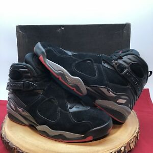 meet a0722 86e57 Image is loading Nike-Air-Jordan-Retro-VIII-Bred-Black-Red-