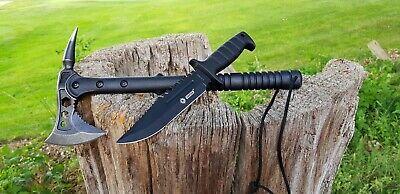 Nachdenklich Tomahawk Messer Machete Axt Beil Knife Rettungsaxt Tactical Ascia Hache Neu