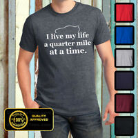 Paul Walker Inspired T-shirt -i Live My Life A Quarter Mile At A Time Shirt