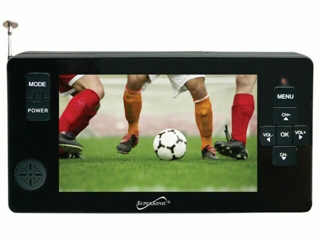 """Supersonic SC-143 4.3"""" LED Portable/Pocket TV +Rechargeable/USB/Micro-SD +Remote"""
