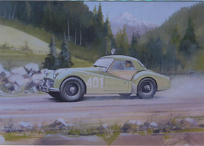 Triumph TR3A Alpine Rally Blank Birthday Fathers Day Card | eBay
