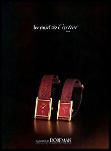 1982-Les-Must-De-Cartier-Watches-Vintage-Photo-PRINT-ADVERTISEMENT-1980s