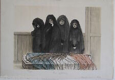 STEINLEN THEOPHILE LITHOGRAPHIE 1915 SIGNÉE NUM/400 SIGNED HANDNUMB LITHOGRAPH