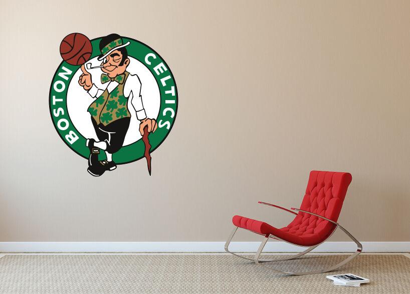 Boston Celtics parojo con el logotipo de vinilo autoadhesivo con la etiqueta de la parojo decoración habitación de Casa SA192