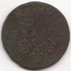 1655-C-France-Louis-XIV-Liard-European-Coins-Pennies2Pounds