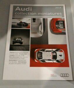 Spielzeug-literatur Audi Offizielles 2014 Factory Sammlung Model 1/43 1/18 Katalog Prod.& Race Cars