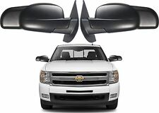 Pair Fit System 80900 Towing Mirrors Snap On For 2007-2013 GM Trucks New USA