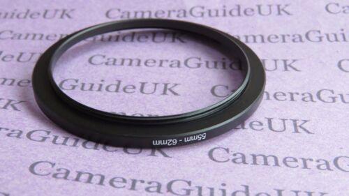 55mm-62mm 55-62 filtro de escalonamiento Step Up Anillo Adaptador UK