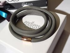 Endless Jewelry 60cm Grey Bracelet Triple Strand Rose Clasp  rrp £55