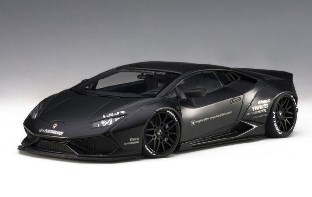 Lamborghini Huracan Liberty Walk Lb Works Matte Black 1 18 Autoart