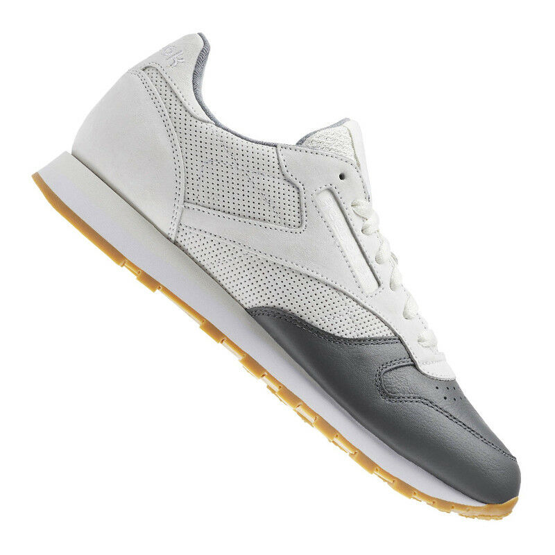 Reebok CLASSIC LEATHER LS RUNNING grey whiteO