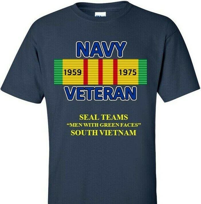 SEAL TEAMS SOUTH VIETNAM VIETNAM CAMPAIGN RIBBON & SILKSCREEN  SHIRT SWEAT