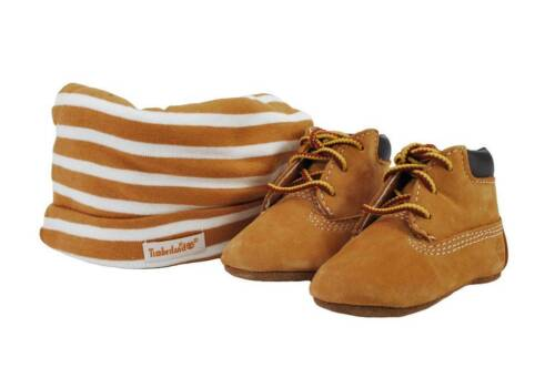 TIMBERLAND Wheat Beige Casual Booties Baby Girl New Born Sneakers Crib Shoes